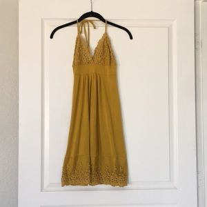 Dresses & Skirts - Olive colored halter dress